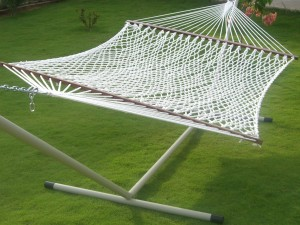 Large Size|Double Person Use|13ft Cotton Rope Hammock