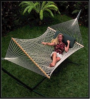 Single Economy |Single Person Use|11ft Cotton Rope Hammock
